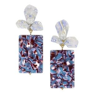 Lele Sadoughi Flower Gem Drop Earrings